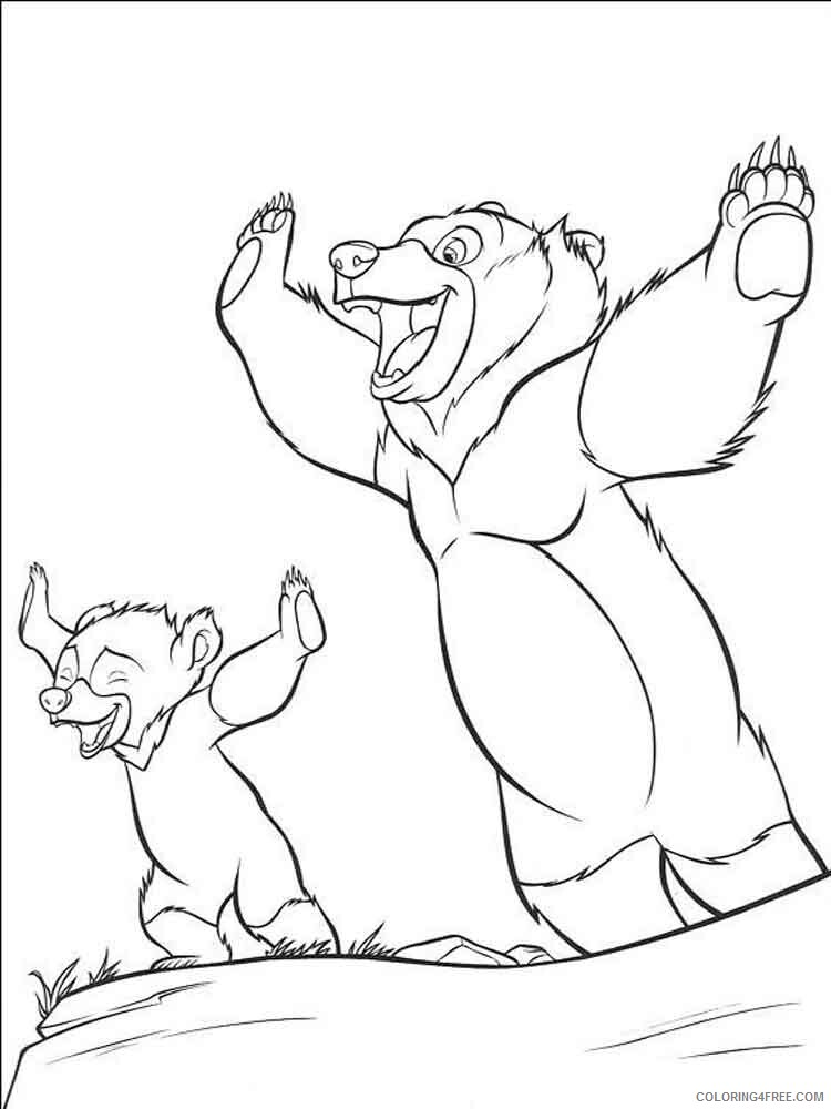 Brother Bear Coloring Pages TV Film brother bear 14 Printable 2020 01485 Coloring4free