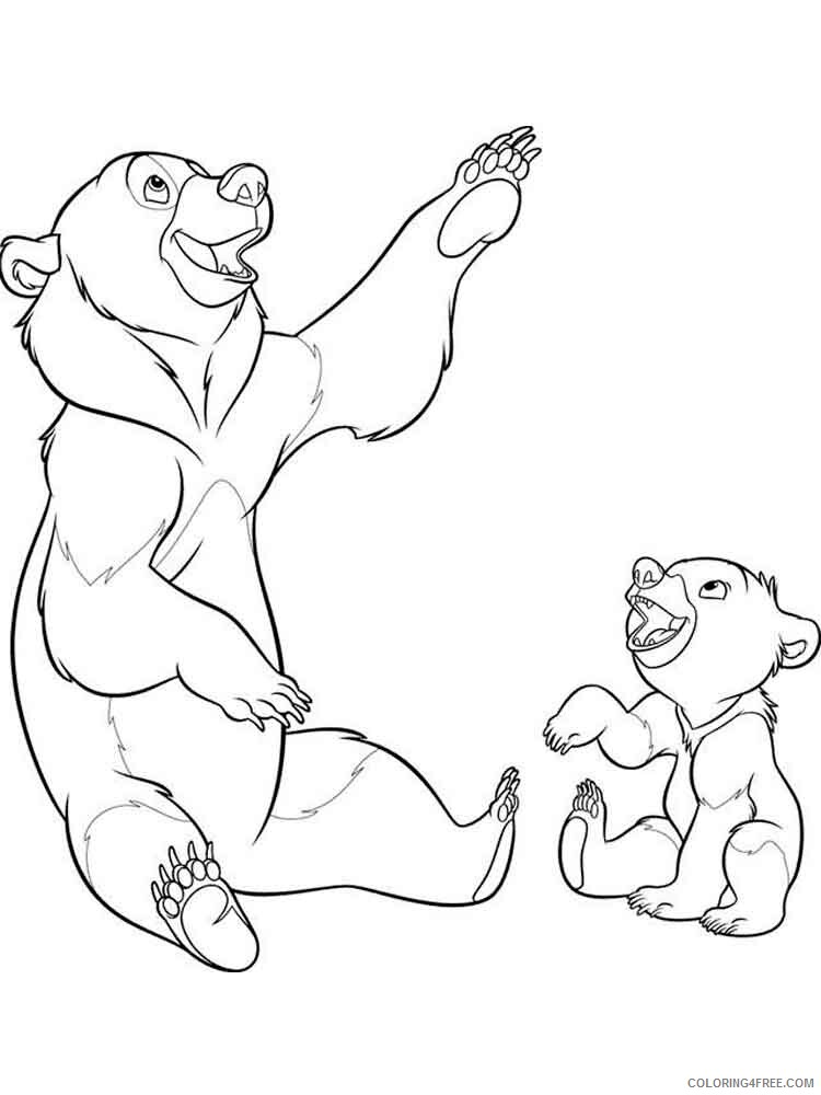 Brother Bear Coloring Pages TV Film brother bear 19 Printable 2020 01494 Coloring4free