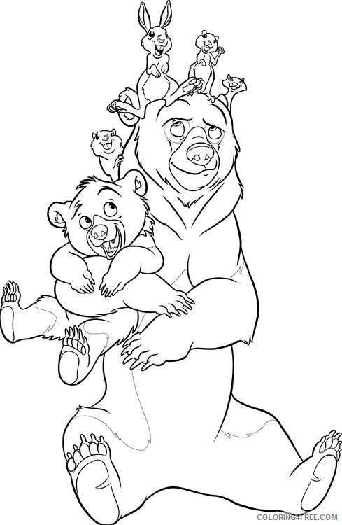 Brother Bear Coloring Pages TV Film brother bear 20 2 Printable 2020 01496 Coloring4free