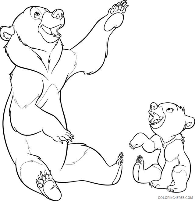 Brother Bear Coloring Pages TV Film brother bear 21 2 Printable 2020 01498 Coloring4free