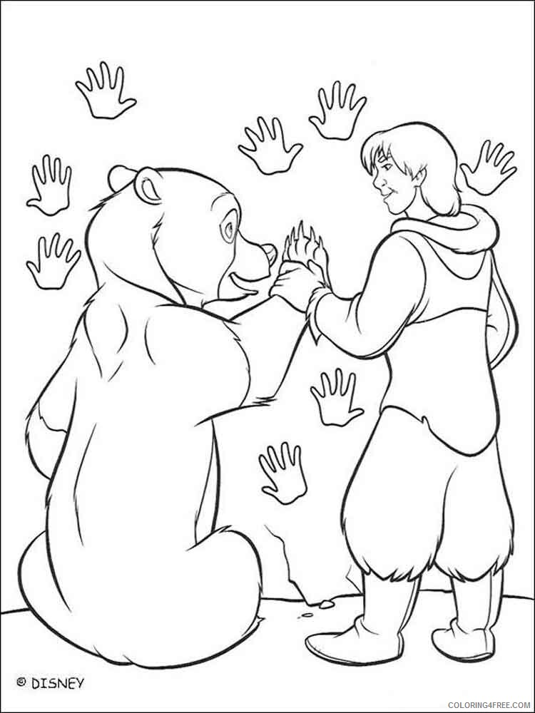 Brother Bear Coloring Pages TV Film brother bear 23 Printable 2020 01502 Coloring4free