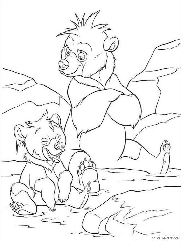 Brother Bear Coloring Pages TV Film brother bear 3 Printable 2020 01507 Coloring4free