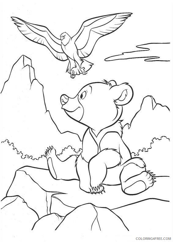 Brother Bear Coloring Pages TV Film brother bear 37 Printable 2020 01514 Coloring4free