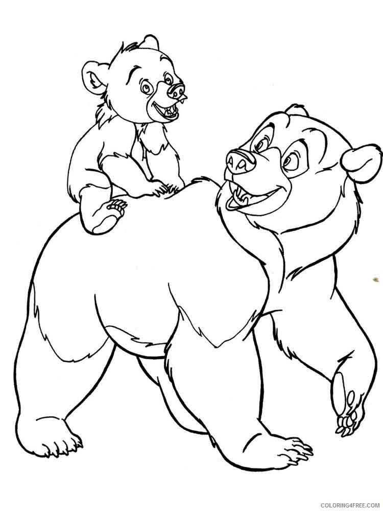 Brother Bear Coloring Pages TV Film brother bear 4 Printable 2020 01518 Coloring4free