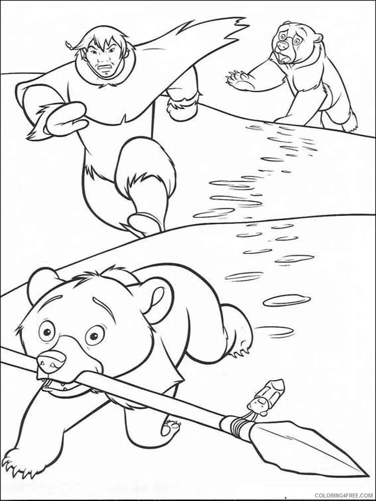 Brother Bear Coloring Pages TV Film brother bear 6 Printable 2020 01520 Coloring4free