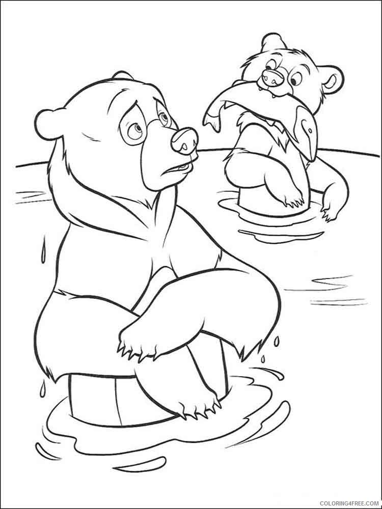 Brother Bear Coloring Pages TV Film brother bear 7 Printable 2020 01522 Coloring4free