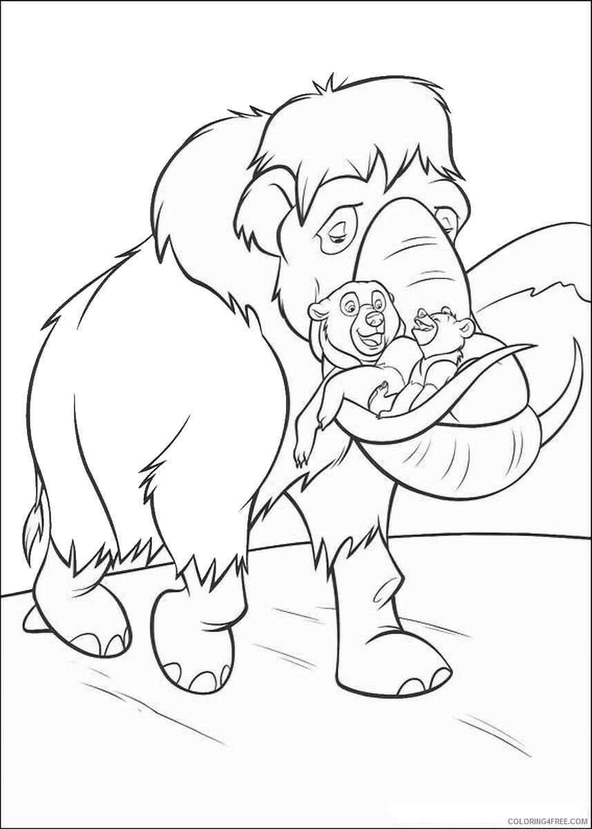 Brother Bear Coloring Pages TV Film brother_bear_coloring1 Printable 2020 01423 Coloring4free