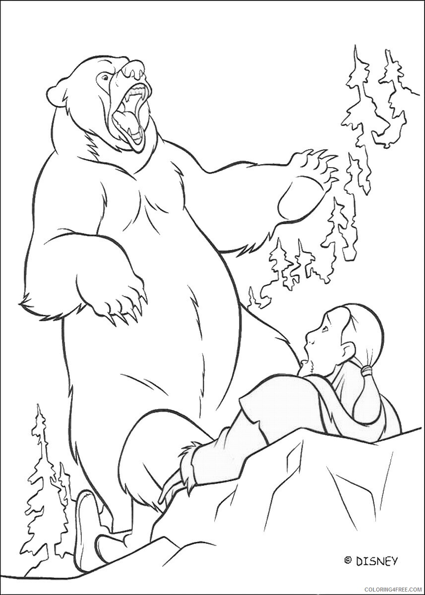 Brother Bear Coloring Pages TV Film brother_bear_coloring11 Printable 2020 01425 Coloring4free