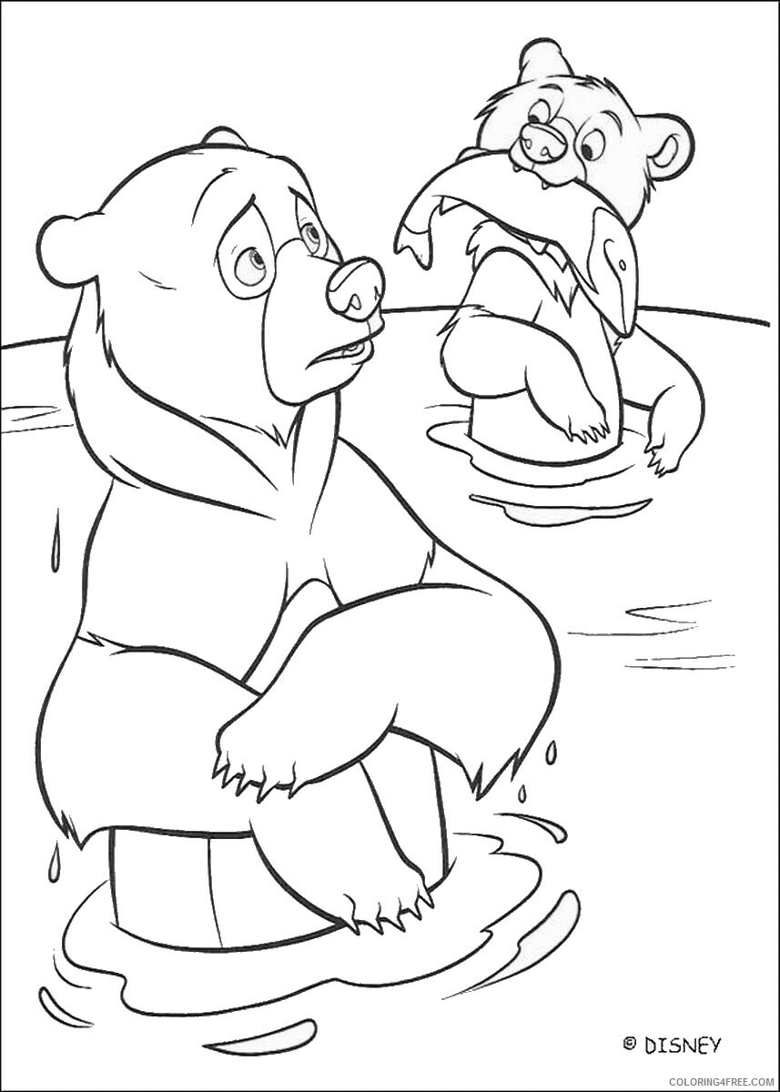 Brother Bear Coloring Pages TV Film brother_bear_coloring21 Printable 2020 01436 Coloring4free