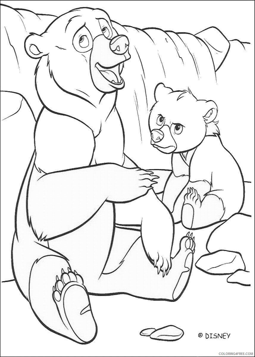 Brother Bear Coloring Pages TV Film brother_bear_coloring22 Printable 2020 01437 Coloring4free