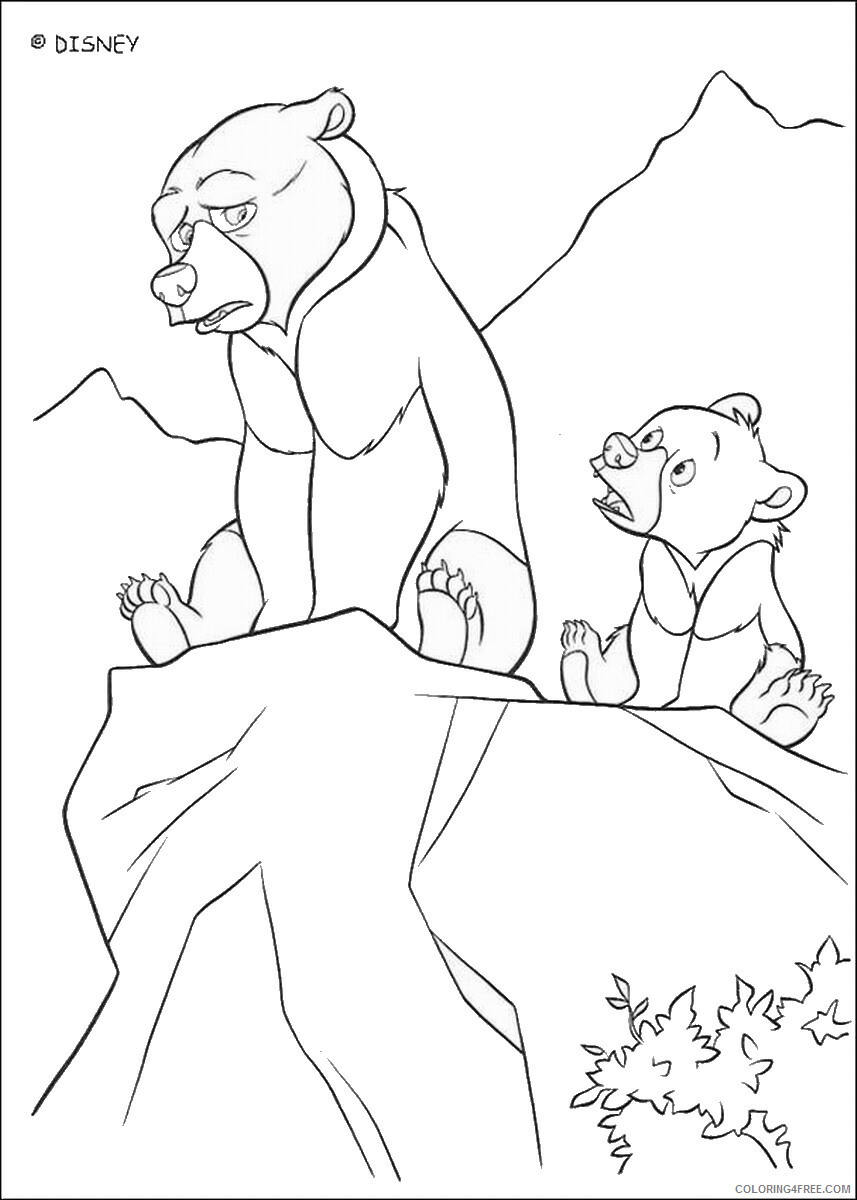 Brother Bear Coloring Pages TV Film brother_bear_coloring23 Printable 2020 01438 Coloring4free