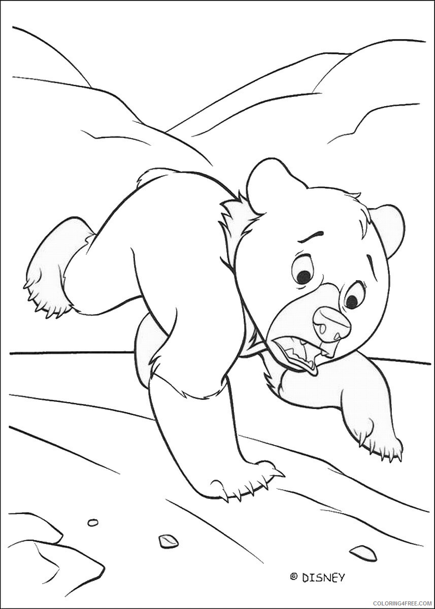 Brother Bear Coloring Pages TV Film brother_bear_coloring24 Printable 2020 01439 Coloring4free