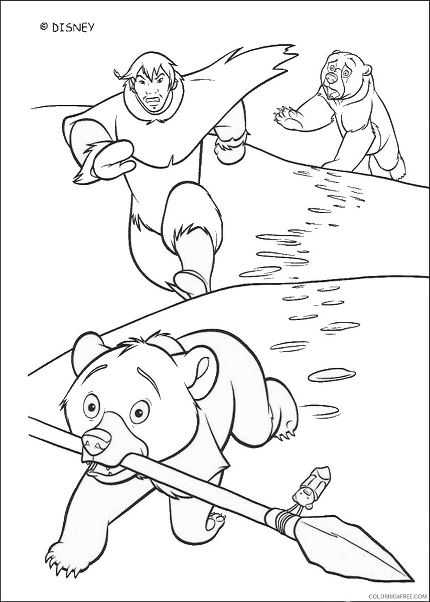 Brother Bear Coloring Pages TV Film brother_bear_coloring27 Printable 2020 01442 Coloring4free