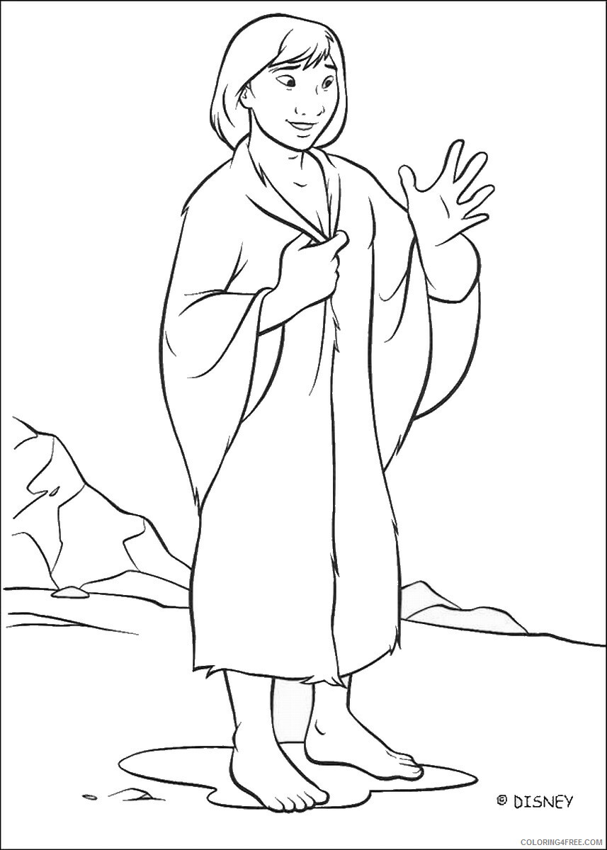 Brother Bear Coloring Pages TV Film brother_bear_coloring29 Printable 2020 01444 Coloring4free
