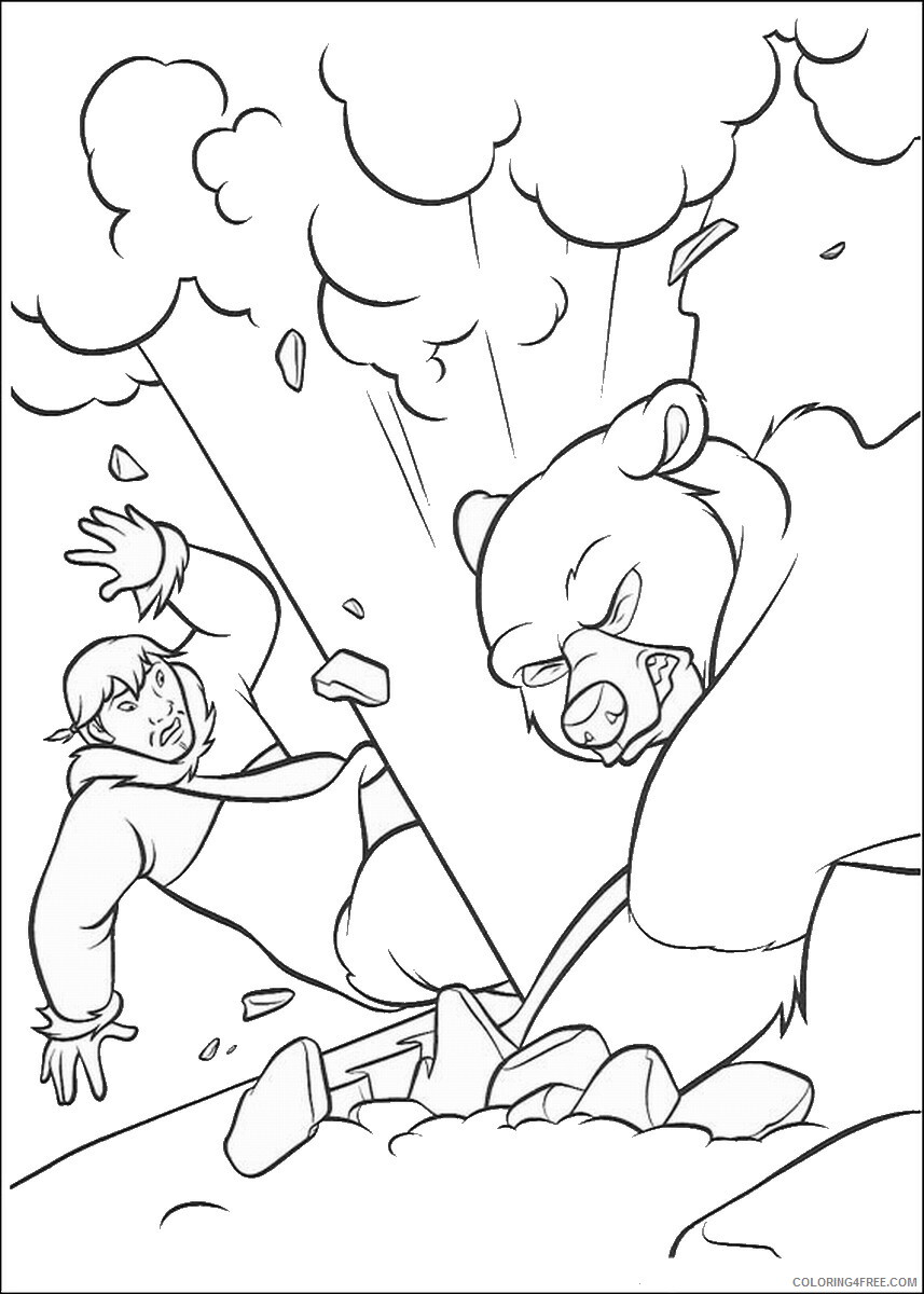 Brother Bear Coloring Pages TV Film brother_bear_coloring3 Printable 2020 01445 Coloring4free