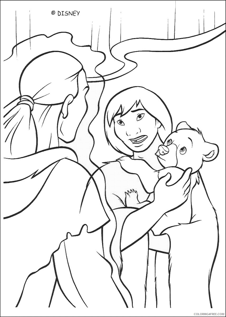 Brother Bear Coloring Pages TV Film brother_bear_coloring32 Printable 2020 01448 Coloring4free