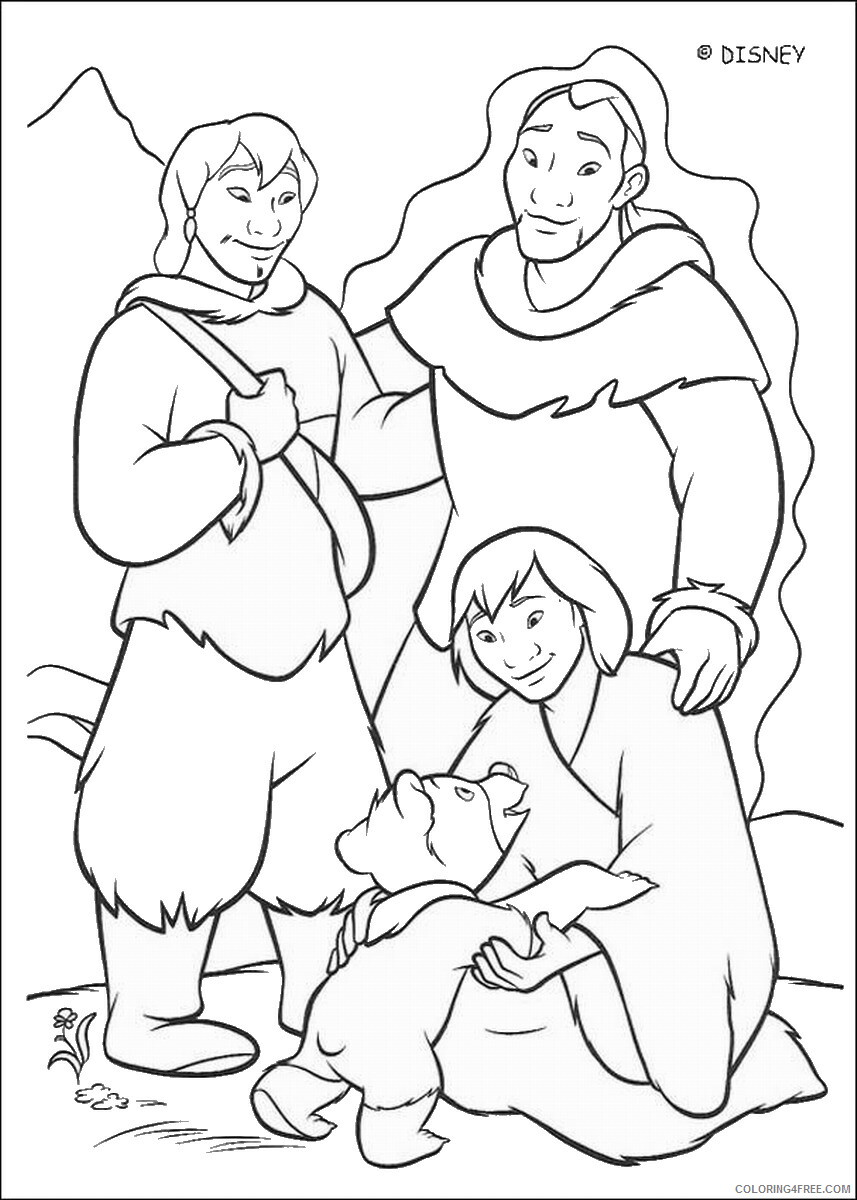 Brother Bear Coloring Pages TV Film brother_bear_coloring33 Printable 2020 01449 Coloring4free