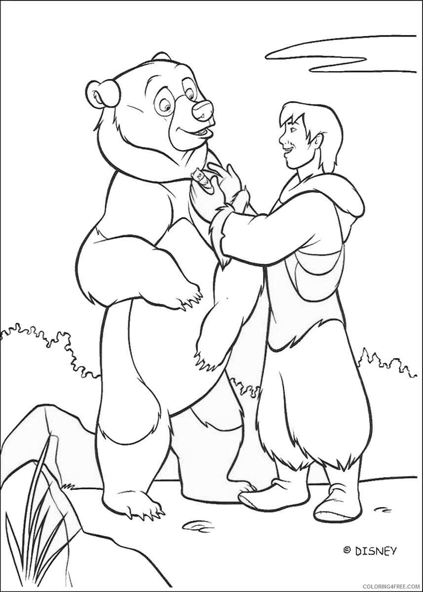 Brother Bear Coloring Pages TV Film brother_bear_coloring35 Printable 2020 01451 Coloring4free