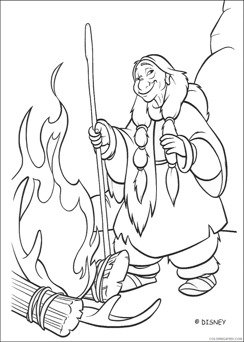Brother Bear Coloring Pages TV Film brother_bear_coloring38 Printable 2020 01454 Coloring4free