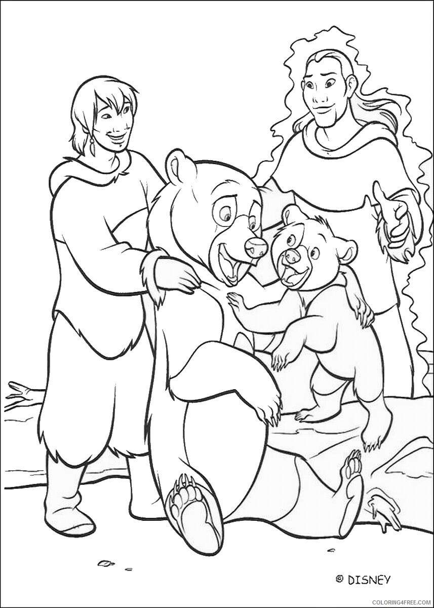 Brother Bear Coloring Pages TV Film brother_bear_coloring39 Printable 2020 01455 Coloring4free