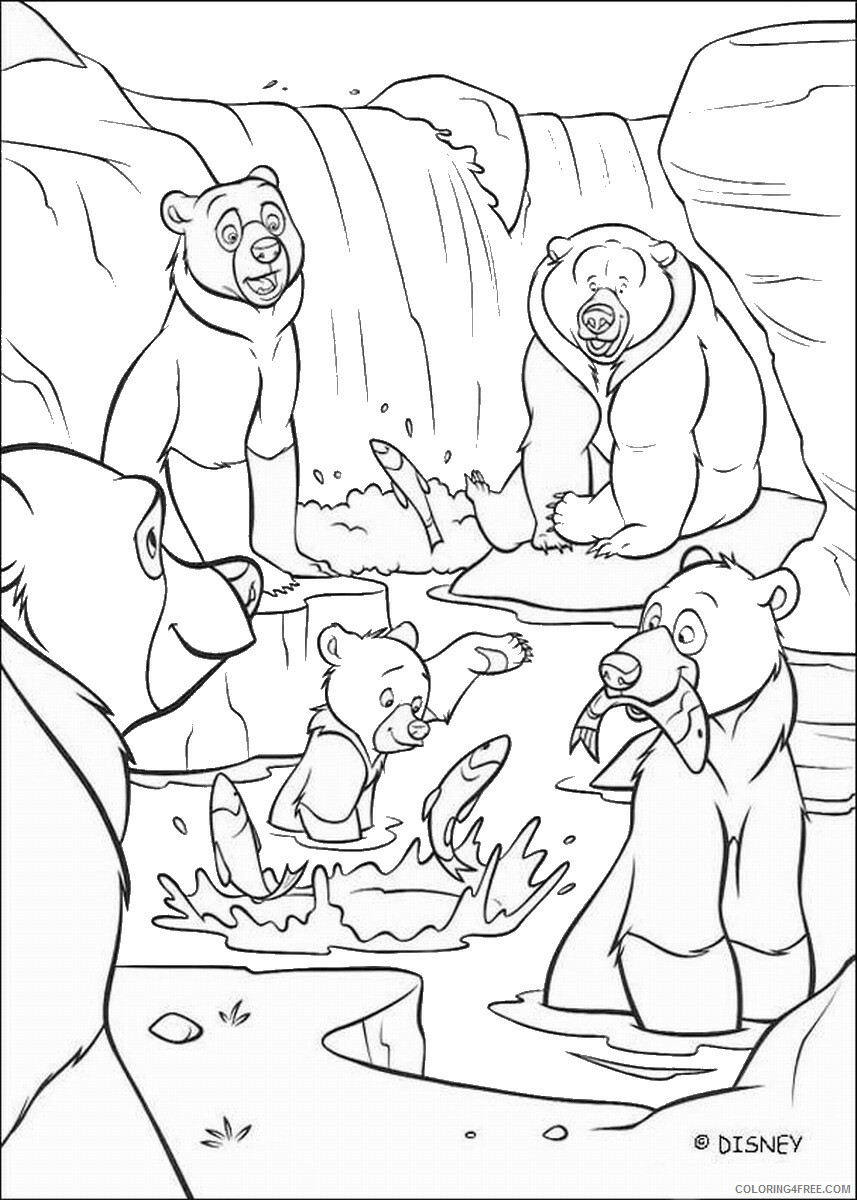 Brother Bear Coloring Pages TV Film brother_bear_coloring4 Printable 2020 01456 Coloring4free
