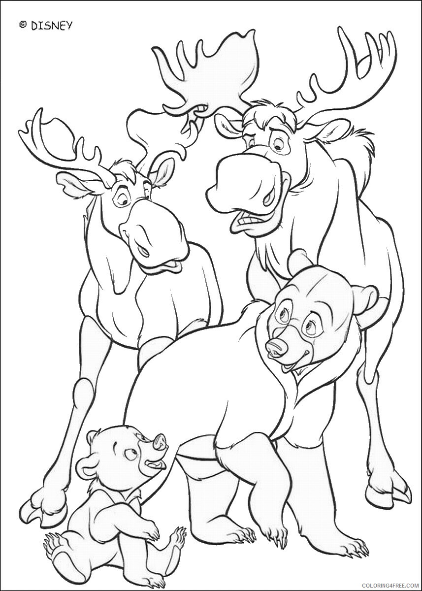 Brother Bear Coloring Pages TV Film brother_bear_coloring40 Printable 2020 01457 Coloring4free