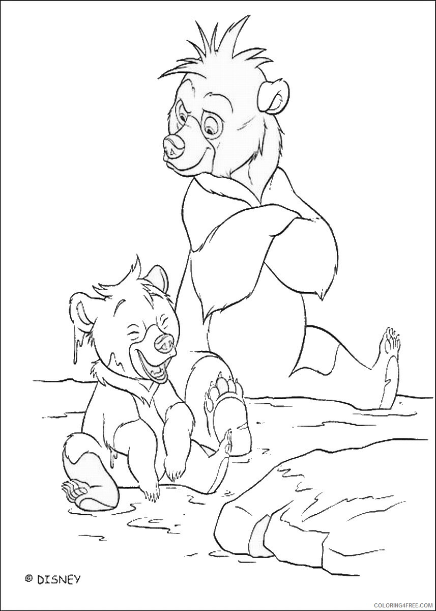 Brother Bear Coloring Pages TV Film brother_bear_coloring42 Printable 2020 01459 Coloring4free
