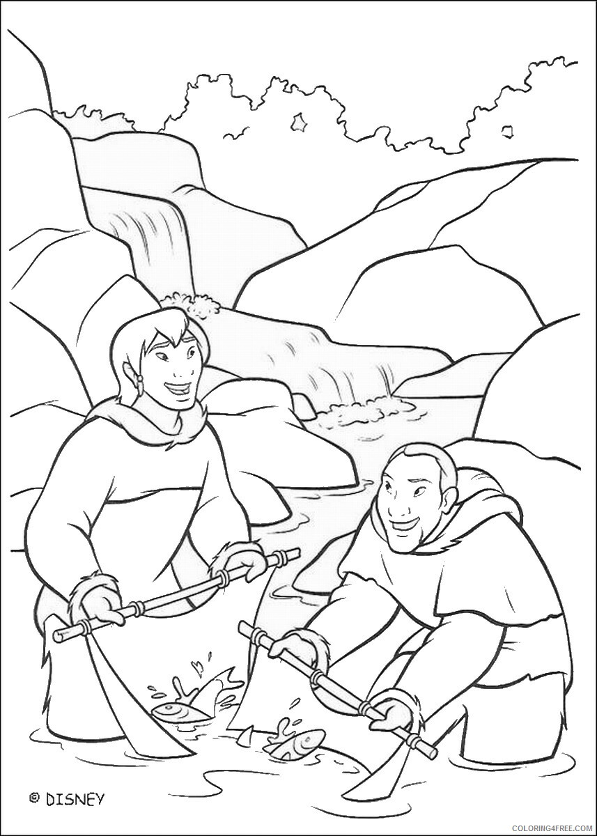 Brother Bear Coloring Pages TV Film brother_bear_coloring43 Printable 2020 01460 Coloring4free