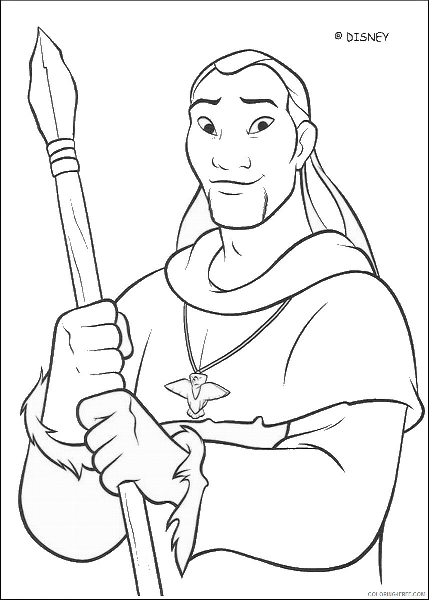 Brother Bear Coloring Pages TV Film brother_bear_coloring5 Printable 2020 01462 Coloring4free