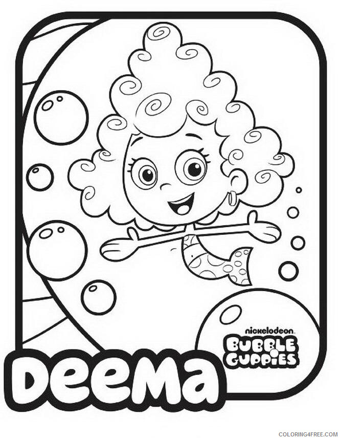 Bubble Guppies Coloring Pages TV Film Bubble Guppies Deema Printable 2020 01615 Coloring4free