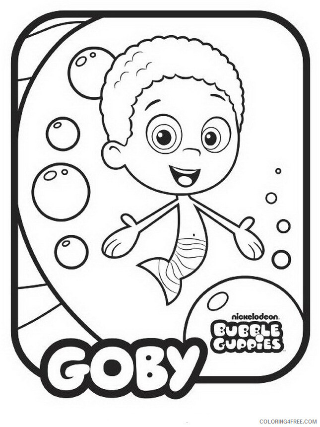 Bubble Guppies Coloring Pages TV Film Bubble Guppies Goby Printable 2020 01621 Coloring4free