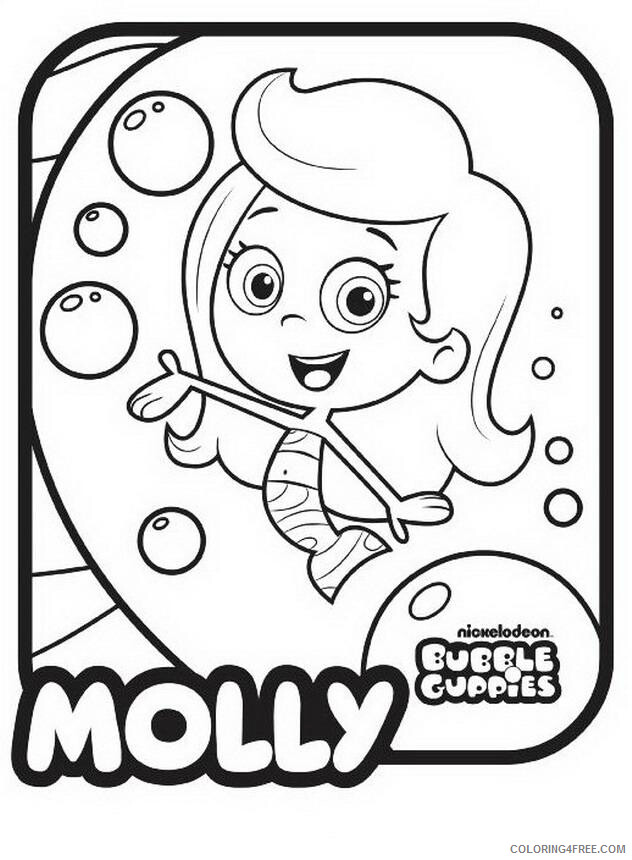 Bubble Guppies Coloring Pages TV Film Bubble Guppies Molly Printable 2020 01623 Coloring4free