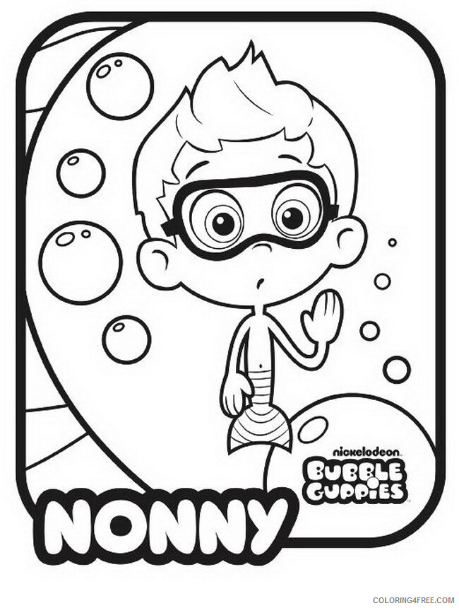 Bubble Guppies Coloring Pages TV Film Bubble Guppies Nonny Printable 2020 01625 Coloring4free