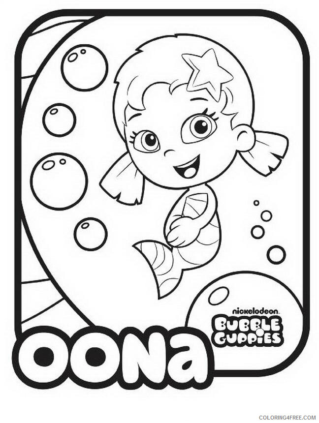 Bubble Guppies Coloring Pages TV Film Bubble Guppies Oona Printable 2020 01627 Coloring4free