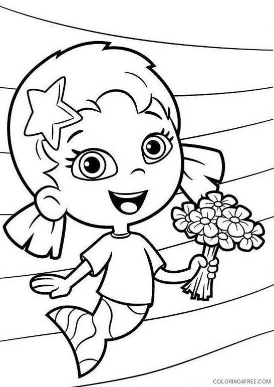 Bubble Guppies Coloring Pages TV Film Bubble Guppies Oona Printable 2020 01638 Coloring4free