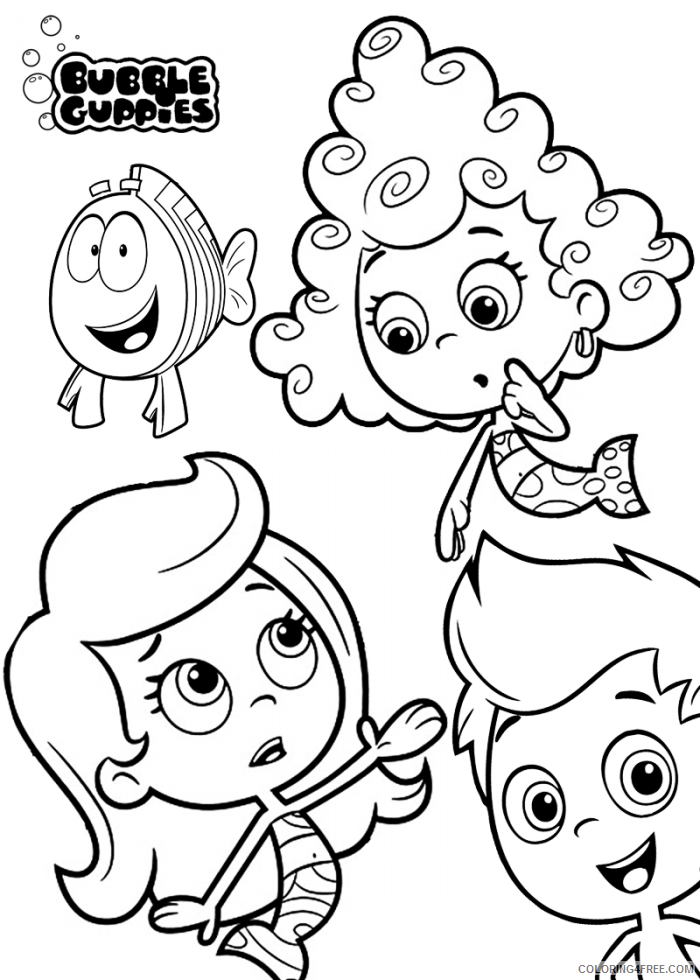 Bubble Guppies Coloring Pages TV Film Bubble Guppies Printable 2020 01580 Coloring4free