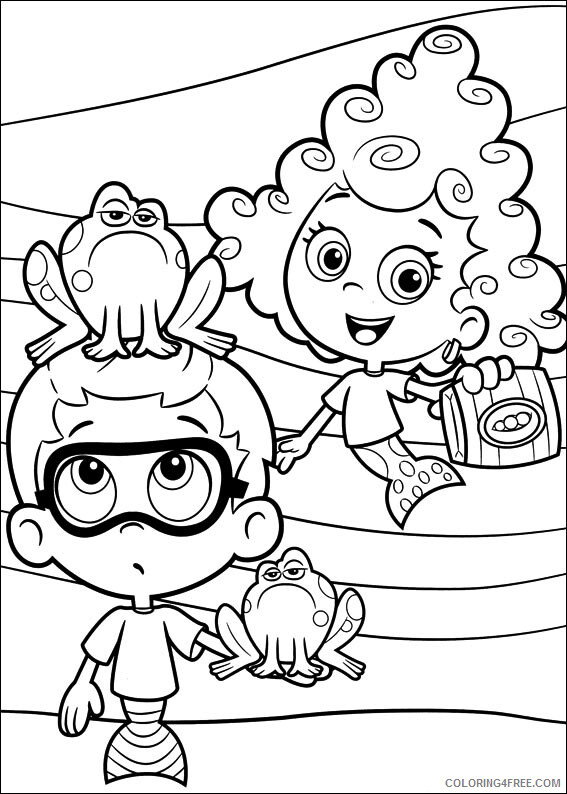 Bubble Guppies Coloring Pages TV Film Bubble Guppies Printable 2020 01583 Coloring4free