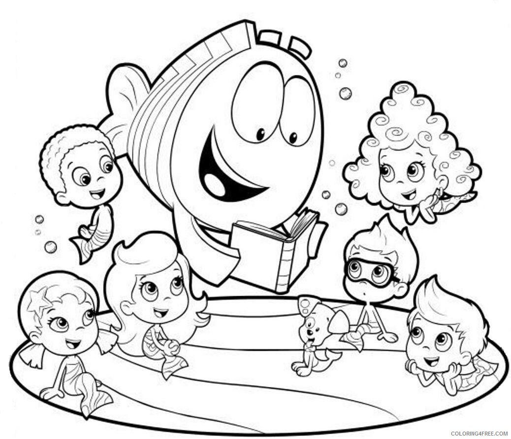 Bubble Guppies Coloring Pages TV Film Bubble Guppies to Print Printable 2020 01631 Coloring4free