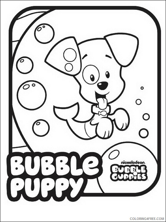 Bubble Guppies Coloring Pages TV Film Bubble Puppy Printable 2020 01613 Coloring4free