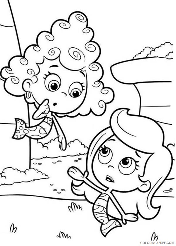 Bubble Guppies Coloring Pages TV Film Deeam Look Confuse to Molly 2020 01646 Coloring4free