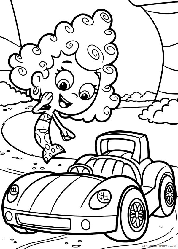 Bubble Guppies Coloring Pages TV Film Deema Like Gils Car 2020 01651 Coloring4free