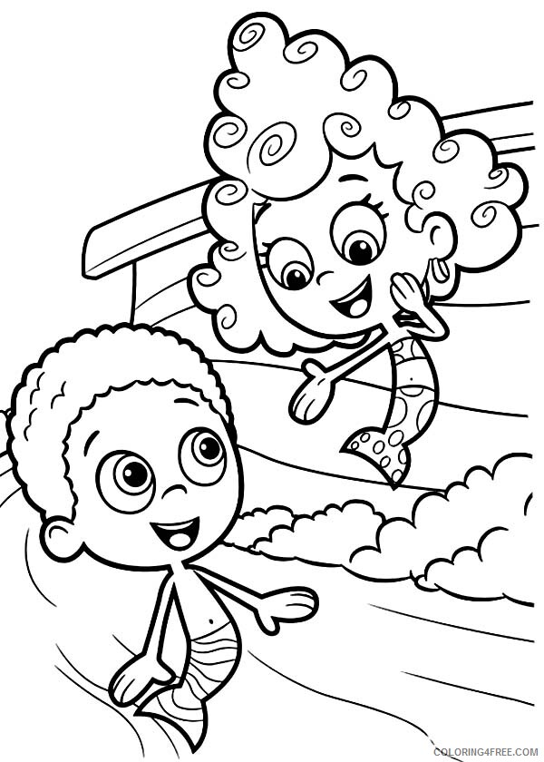 Bubble Guppies Coloring Pages TV Film Deema Present Herself to Goby 2020 01652 Coloring4free