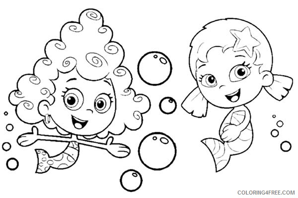 Bubble Guppies Coloring Pages TV Film Deema and Oona 2020 01648 Coloring4free