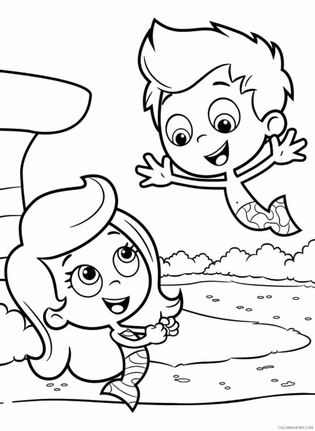 Bubble Guppies Coloring Pages TV Film Free Bubble Guppies 2 Printable 2020 01668 Coloring4free