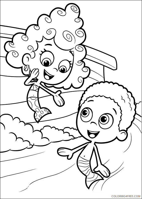 Bubble Guppies Coloring Pages TV Film Free Bubble Guppies Printable 2020 01661 Coloring4free