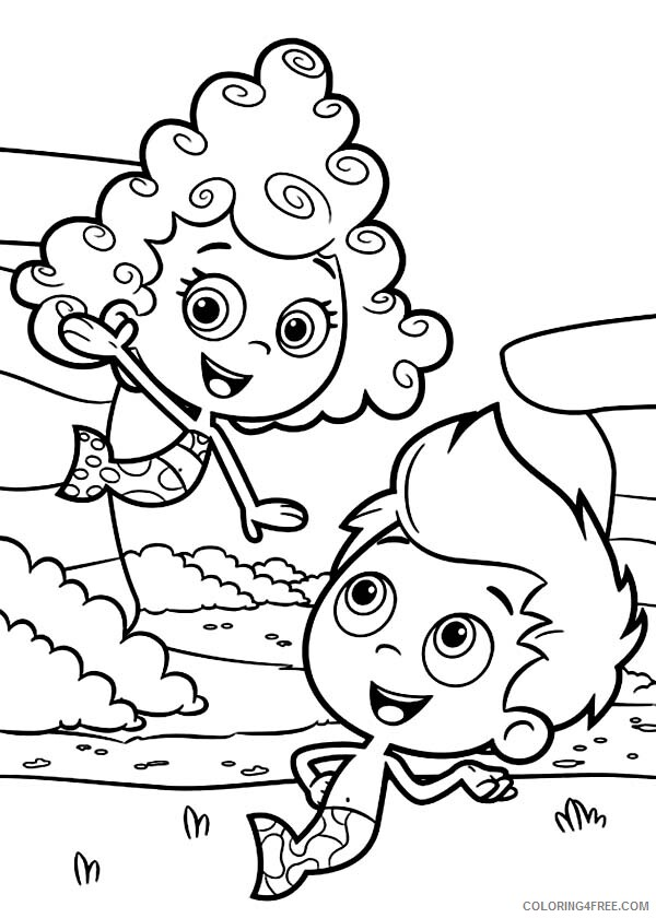 Bubble Guppies Coloring Pages TV Film Gil Meet Deema in Bubble Guppies 2020 01675 Coloring4free