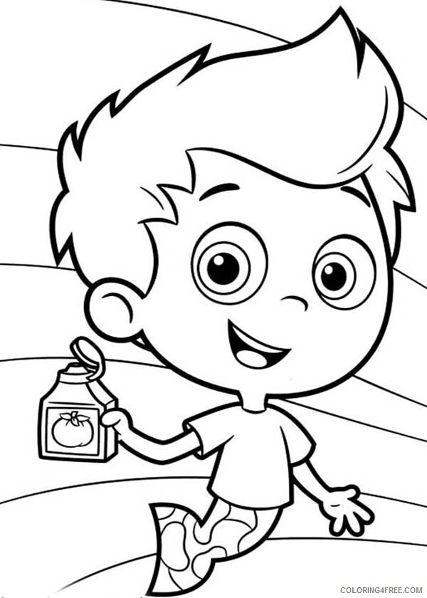 Bubble Guppies Coloring Pages TV Film Gil Show His Shampoo 2020 01676 Coloring4free