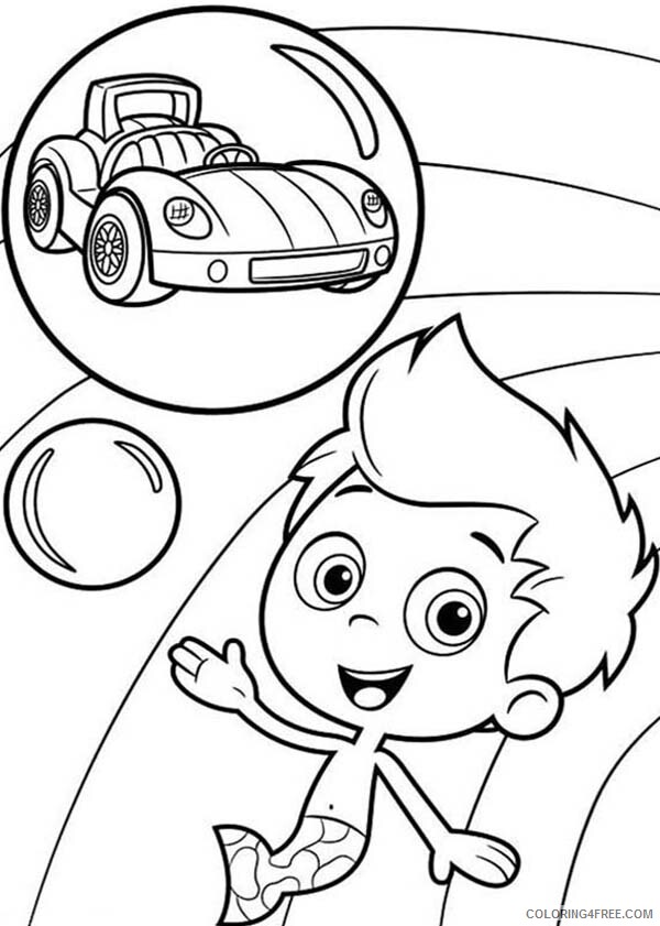 Bubble Guppies Coloring Pages TV Film Gil Want to Have a Car 2020 01677 Coloring4free