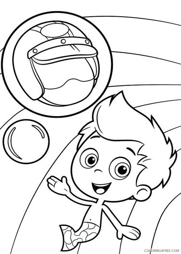 Bubble Guppies Coloring Pages TV Film Gil and His Awesome Helmet Printable 2020 01671 Coloring4free