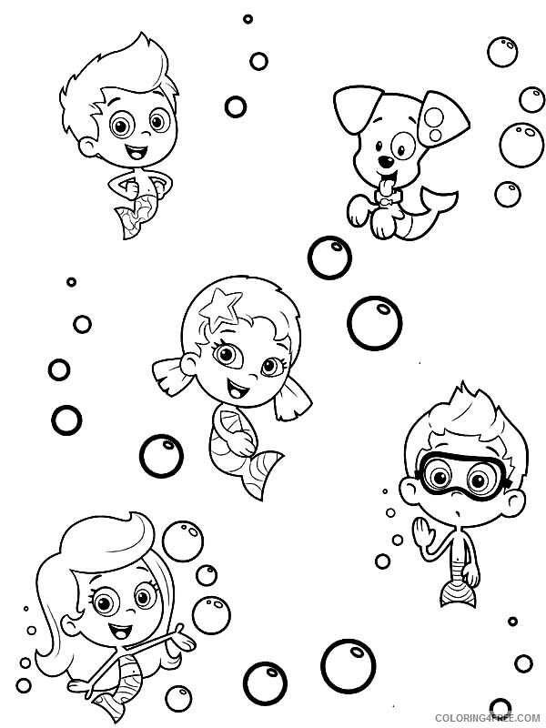 Bubble Guppies Coloring Pages TV Film How to Draw Characters Printable 2020 01681 Coloring4free